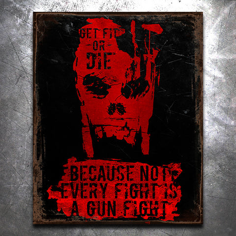 GFOD Gunfight Vintage Tin Sign