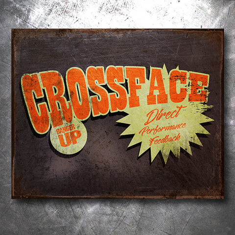 Crossface Wrestling Vintage Tin Sign