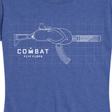 Women's Kitted Out Combat Flip Flops T-Shirt