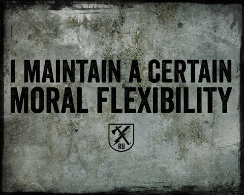 Moral Flexibility Tin Sign