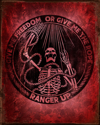 Freedom Or Rope Tin Sign