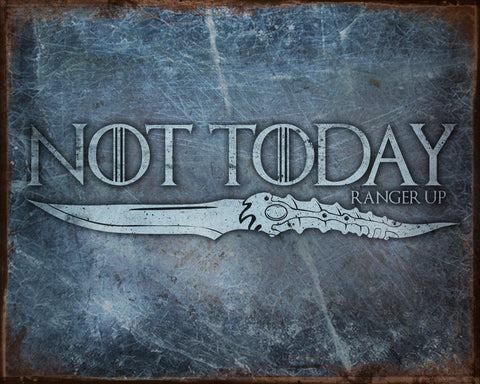 Not Today Vintage Tin Sign
