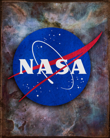 NASA Meatball Vintage Tin Sign