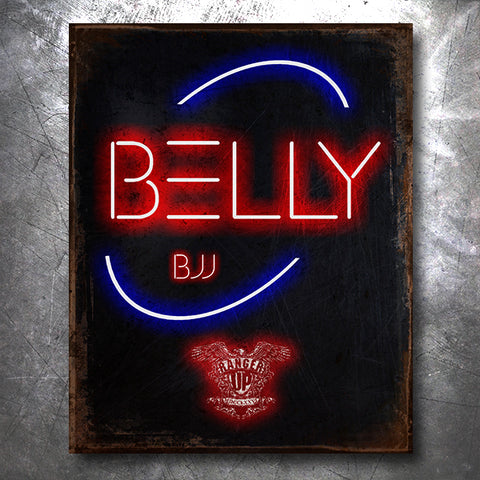 Neon Belly Jiu Jitsu Vintage Tin Sign