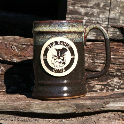 Old Man's Club Stoneware Tankard