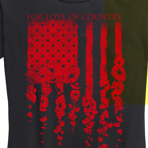 WOMEN'S Poppy Flag Tee