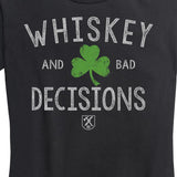 WOMEN'S Whiskey & Bad Decisions Shamrock Shirt