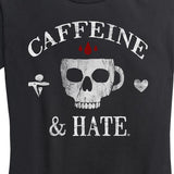 *COMING SOON* WOMEN'S Caffeine And Hate Skull Mug Normal Fit Shirt