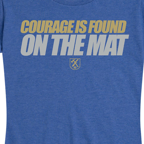 Women's Courage Is Found On The Mat Tee