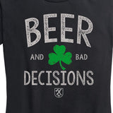 Women's Beer & Bad Decisions Shamrock Tee