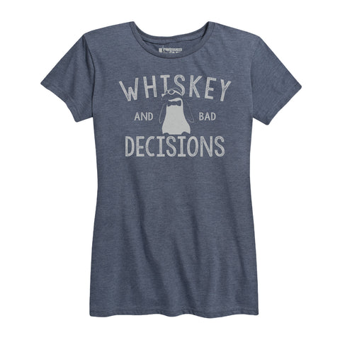 Women's Whiskey & Bad Decisions Tee Blue