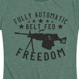 Women's Fully Automatic Belt Fed Freedom Tee