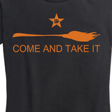 Women's Halloween Come And Take It - Broom Tee