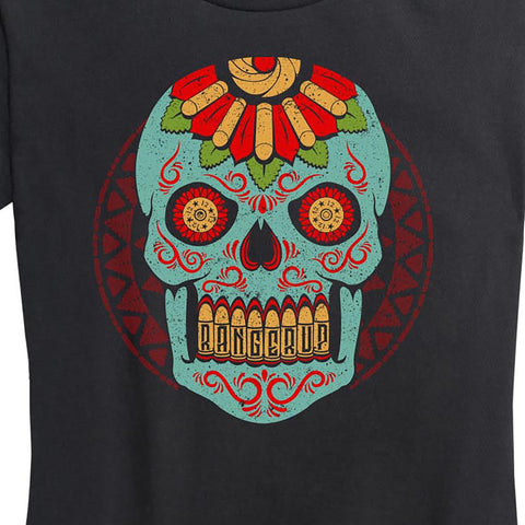 Women's Sugar Skull Blue Tee