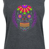 Women's Purple Sugar Skull Tank