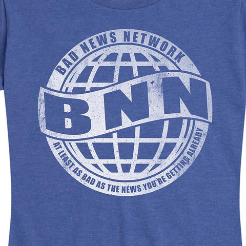 Women's Bad News Network BNN Blue Tee