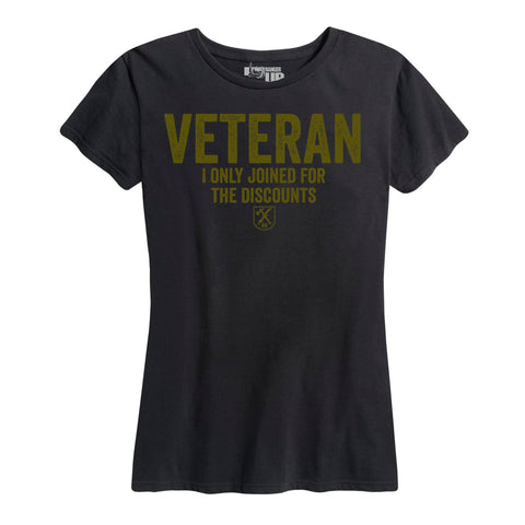 Women's Veteran For The Discounts Tee