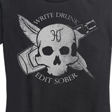 Women's Write Drunk Edit Sober Tee