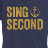 Women's Navy Sing Second Tee