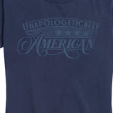 Women's Unapologetically American Washout Navy Tee