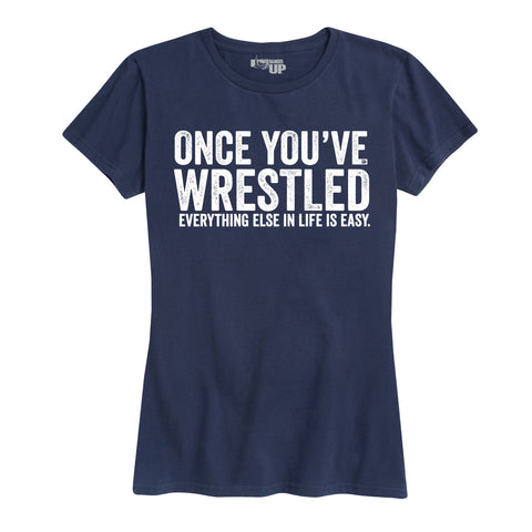 Women's Once You Wrestle Tee