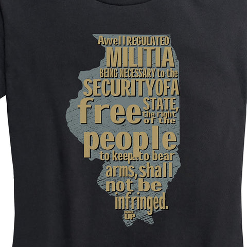 Women's Illinois 2nd Amendment Tee