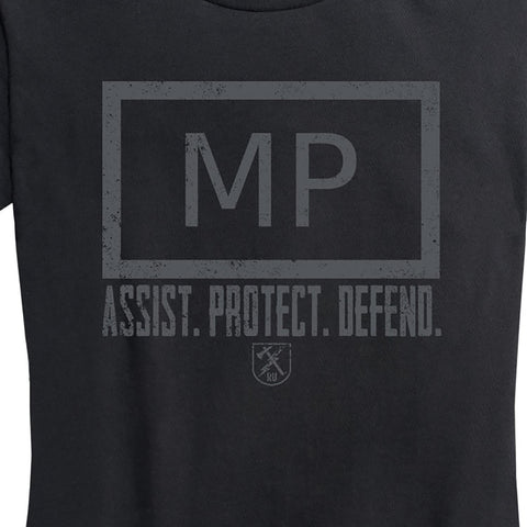 "Women's Military Police ""Assist, Protect, Defend"" Tee"