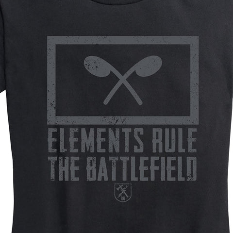 "Women's Chemical Corps ""Elements Rule The Battlefield"" Tee"