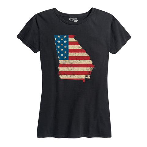 Women's U.S.Flag - Georgia T-Shirt