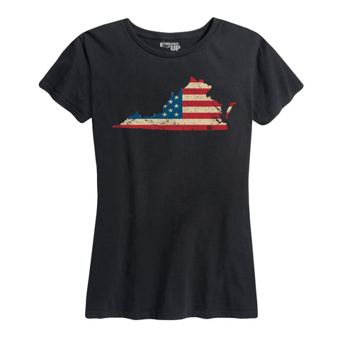 Women's U.S. Flag Virginia Tee