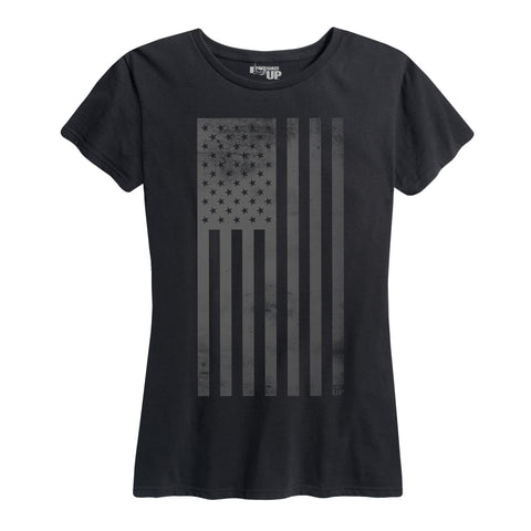Women's Blackout Flag Tee