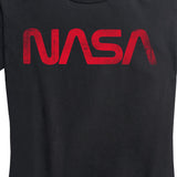 "Women's NASA ""Worm"" Tee (Black)"