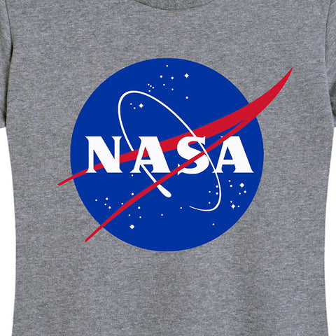 "Women's NASA ""Meatball"" Insignia Tee Gray"