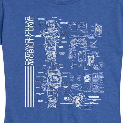 "Women's NASA ""EMU"" Blueprint Tee"