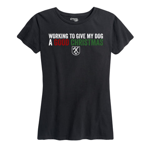 Women's Dog Christmas Tee