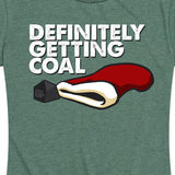 Women's Definitely Getting Coal Tee