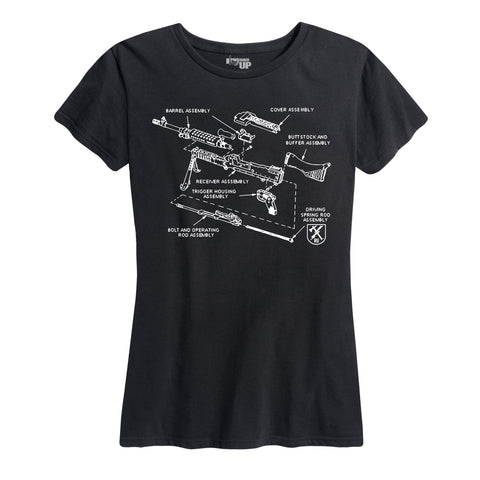 Women's M240 Diagram Tee