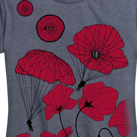 Women's Paratrooper Poppy Field Memorial Tee