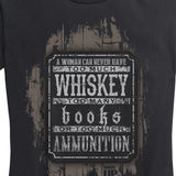 WOMEN'S Books, Whiskey and Ammunition T-Shirt