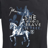 WOMEN's Joan of Arc She Who is Brave T-Shirt