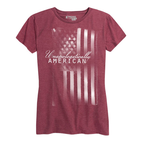 Unapologetically American FLAG Tee Womens