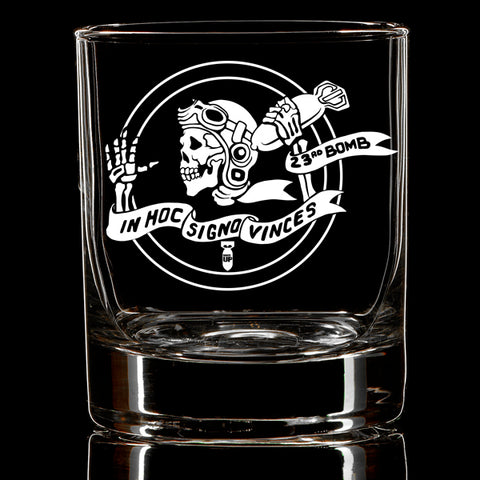 23rd Bomber Skelly Whiskey Glass
