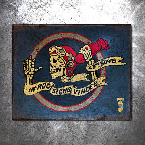 23rd Bomber Skeleton Vintage Tin Sign