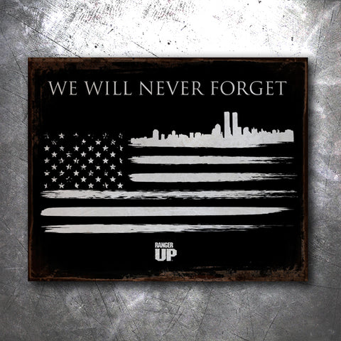 9/11 Tribute Flag Tin Sign