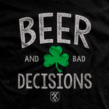 Beer & Bad Decisions Shamrock Vintage T-shirt