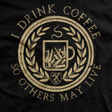 I Drink Coffee Black T-shirt