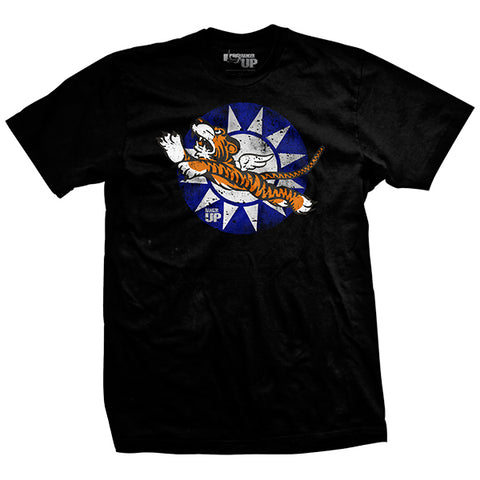 BLACK Flying Tigers Bomber T-Shirt