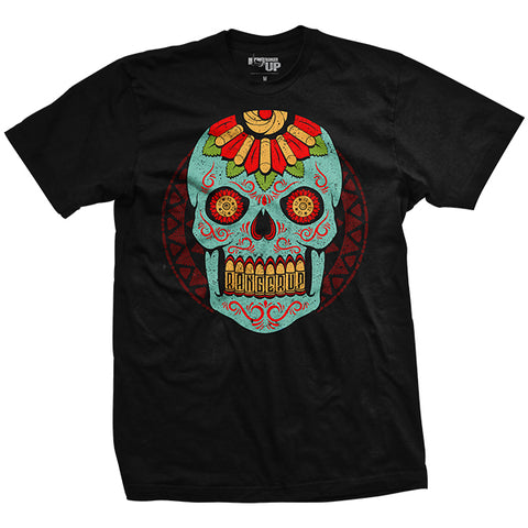 Halloween - Blue Sugar Skull T-Shirt