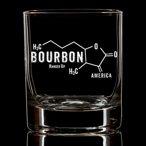 Bourbon Molecule Whiskey Glass