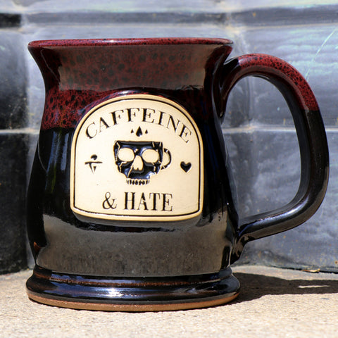 Caffeine and Hate Skull Mug Stoneware Mug